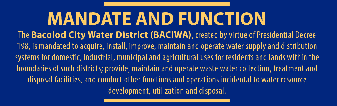 Bacolod City Water District Every Drop Counts Everyone Matters